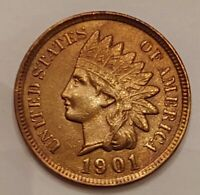 1901 Indian Head Cent Grading Choice BU Red Nice Coin Priced Right FREE S&H  i27