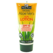 Aloe Pura Organic Aloe Vera Sun Lotion 200ml SPF15