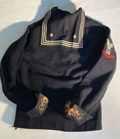 WWII US Navy Sailor Wool Vintage Crackerjack Uniform Top Shirt Vintage