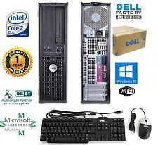 Dell OptiPlex computer desktop160GB HD Intel Core 2 Duo 4GB Windows 10 Pro 64bit