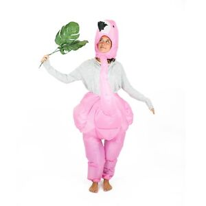 Adult Inflatable Pink Flamingo Animal Costume Outfit Suit Halloween One Size
