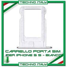CARRELLO SLOT PORTA MICRO SIM TRAY ARGENTO SILVER PER IPHONE 5S