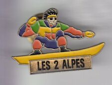 RARE PINS PIN'S .. SPORT HIVER SKI SKIING MONOSKI SNOWBOARD LES 2 ALPES 38 ~ED