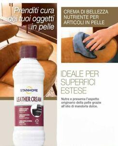 STANHOME: LEATHER CREAM  crema nutriente per la pelle  250 ml spugna eatensibile