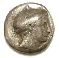 Chalkis, Euboia. AR Drachm (16 mm, 3.45 g), c. 338-308 BC