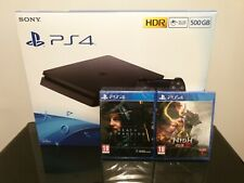 PS4 Slim New Look 500gb Black Console - Brand New & Sealed + 2 GAMES
