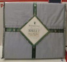 Waterford PORTUNA Queen Flat sheet, blue.  NIP,  $100.00. 400 TC Cotton twill.