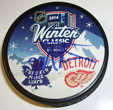 MIKE PALMATEER TORONTO MAPLE LEAFS SIGNED 2014 WINTER CLASSIC PUCK w/ COA