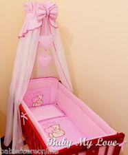 10 pcs CRIB bedding set /Bumper/sheet/duvet/CANOPY /FREE STANDING HOLDER-