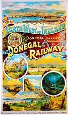 1890s North-West Ireland Great Britain Railway Travel Advertisement Poster