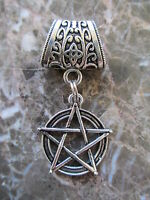 Star Pentagram Pentacle on Heavy Weight Bail-Wicca Celtic Pagan