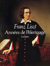 Franz Liszt Annees De Pelerinage Complete Learn to Play Piano Music Book