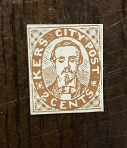 Vintage US Local/City Post Stamp, Kers City Post