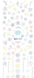 Nail Art Sticker Aufkleber Fingernägel Muscheln Seesterne Seepferdchen 2