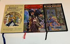 League of Extraordinary Gentlemen Vol 1 2 And Black Dossier Hc Lot Alan Moore