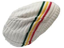 White Rasta Hat Dreads Dreadlocks Tam Beret Slouchy Cap Dreads Beanie Hair L/XL