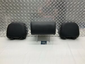 11-13 KIA SORENTO REAR SEAT 2ND ROW HEADREST SET HEAD RESTS BLACK LEATHER OEM