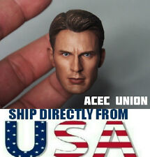1/6 Chris Evan Captain America Head Sculpt 5.0 For Hot Toys Body - U.S.A. SELLER