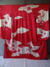 Japanese Traditional Furisode Kimono Silk Pink