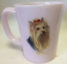 Coffee Mug w/ Yorkie Yorkshir Terrier - Crown Tuscan Glass Rosso Exclusive - USA