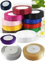 """15 Rolls Satin Ribbon, 15 Colors 25 Yards Each roll, 25 Mm/1"""" Cheapest on Ebay"""