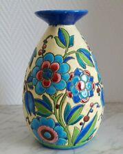 Vase Keramis décor de fleurs Belgium  - 21537