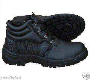 Black Chukka Safety Boot Steel Toe Cap Steel Midsole