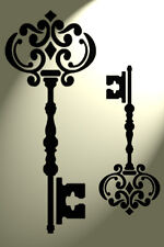 Shabby Chic Key 2 sizes Stencil Vintage Damask Rustic style A4 297x210mm wall