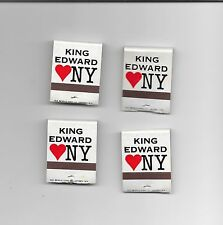VINTAGE KING EDWARD MATCHES MATCHBOOK CIGARS DD BEAN & SONS CO LOT OF 4