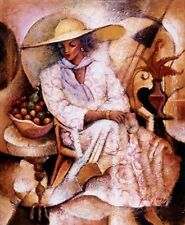 """African American Black Art Print """"SPRING MELODY"""" by Essud Fungcap"""