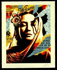 IN HAND * Welcome Visitors Obey Giant Signed Numbered Letterpress Shepard Fairey
