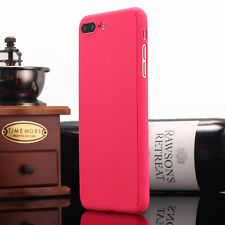 iPhone X 6 7 8 Plus Ultra-thin Shockproof Hard Case Cover Tempered Glass F Apple Rose Red for iPhone 6