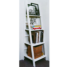 Ladder 4 Tier Storage / Display Shelves - White ST211134