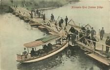 Minnesota, MN, New Ulm, Minnesota River Pontoon Bridge 1908 Postcard