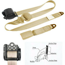 High Strength 3 Point Style Retractable Safety Seat Belt Beige Strap for SUV Car