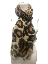 Ladies Womens Leopard Zebra Print Scarf Soft Feel Everyday Scarves Wrap