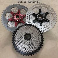SunRace 10 Speed MTB Bike Cassette 10S 11-40/42/46T Fit Shimano SRAM Freewheel