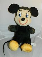 Vintage 1960's Walt Disney Character Productions Mickey Mouse Plush Stuffed Rare