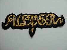 ULVER YELLOW LOGO  EMBROIDERED PATCH