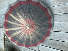 Vintage brown Umbrella Parasol With Butterscotch Bakelite Handle.