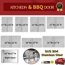 Outdoor Kitchen Doors 304 Stainless Steel Doors BBQ Access Door for BBQ Island