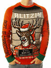 Ugly Christmas Party Sweater Unisex Men's Blitzin Arrested Long Sleeve
