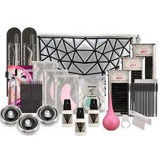 Pro Makeup 19 in 1 Extension False Eyelash Glue Brush Full Kit Set Eye Pad & Bag