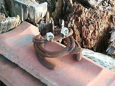 Handgefertigter Frosch aus Hufeisen, Gartendeko Edelrost