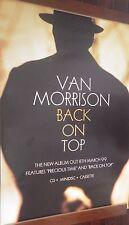 """40x60"""" Huge Subway Poster~Van Morrison 1999 Back On Top Original Vintage Album~"""