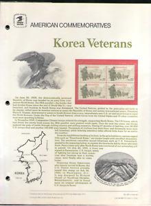 US. CP246. 2152. Korean Veterans. Commemorative Panel With Hole Sleeve. 1985