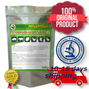 Amoxi 10% for Pigeons Chickens Cage Birds Turkeys Ducks Poultry Pigs Calves