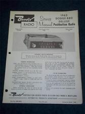 Bendix Service Manual~1962 Dodge-880 Car Radio~R23BDQ 347