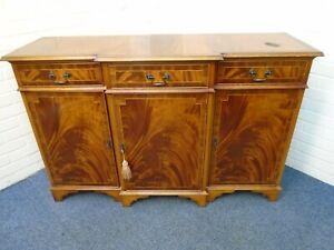 Yew Veneer 3 Drawer, 3 Cupboard Sideboard