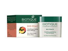 Ayurveda Biotique Peach Clarifying & Refining Peel-Off Mask  Acne Prone Skin 50g